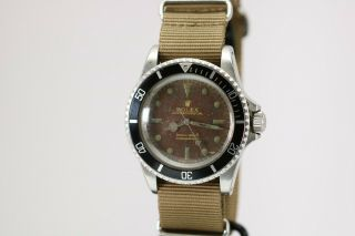 Rolex Submariner Ref 5513 Vintage Gilt Tropical Brown Dial Dive Watch 1960s 2