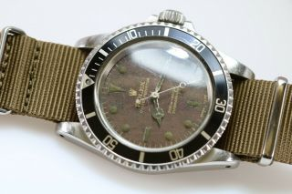 Rolex Submariner Ref 5513 Vintage Gilt Tropical Brown Dial Dive Watch 1960s 3