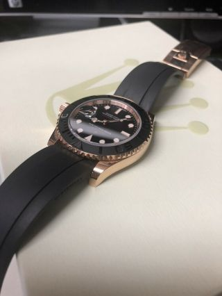Rolex Yacht - Master Matte Black Dial Everose Gold Rubber Automatic Watch 116655 3