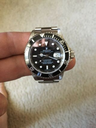 Rolex Submariner 16610 T Mens Watch Serial Z