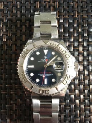 Rolex Yachtmaster 40mm 16622 Stainless Steel Platinum Bezel & Dial Watch