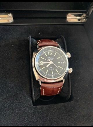 Panerai Radiomir Gmt Alarm Ref.  Pam 98 Stainless Steel 42mm Exhibition B,  P