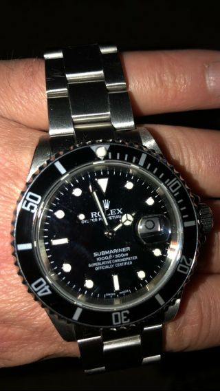 Rolex Submariner Date 16610 Stainless Steel 2006,  Full Set.