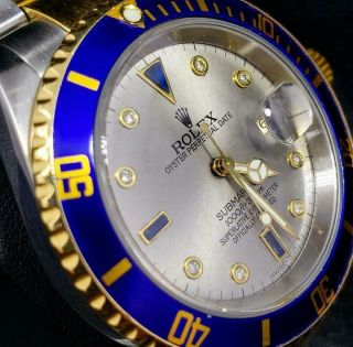 Rolex Submariner 16613 18k And Ss  P  Serial Box And Booklet