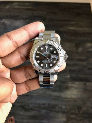 Rolex 116622 Steel Platinum Yachtmaster Mens 40 Mm Oyster Easylink Clasp