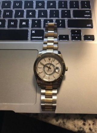 Rolex Sky - Dweller 42mm Two Tone Champagne 326933 Fully Stickered 2019
