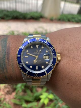 Rolex Submariner 16613 18k Yg/steel Blue