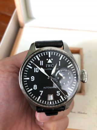 Iwc Big Pilot Watch Ref 5002 7 Days Power Reserve Automatic Watch