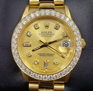 31mm Rolex Mid - Size 18k Gold Presidential Datejust: Model: 6827