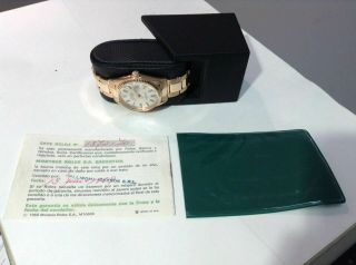 1969 ROLEX 1601 DATEJUST 18K R/Gold w/ Rivet Oyster Band Cal 1570,  PAPERS 5