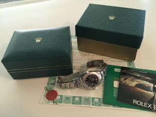 Rolex Explorer Ii 16550 With B&p Complete And Unique Set (box & Papers)