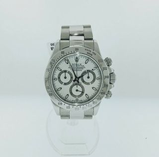 Rolex Daytona Oyster Perpetual Steel White Dial Watch 116520