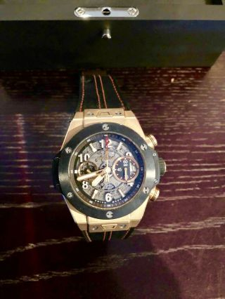 Hublot Big Bang Unico Skeleton Dial 45mm R/gold & Ceramic 411.  Om.  1180.  Rx