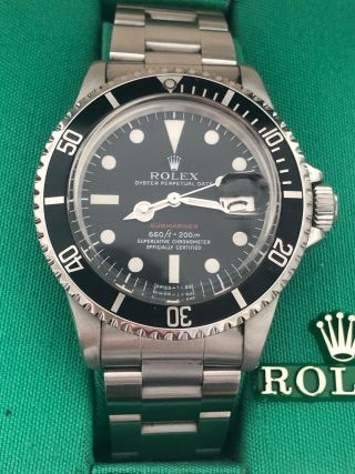 1971 Rolex Red Submariner Date Ref 1680/0 S/s Band W/ Box