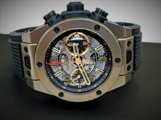 Hublot Big Bang Unico Full Magic 18k Gold Skeleton 411.  MX.  1138.  RX - 3