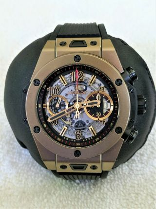Hublot Big Bang Unico Full Magic 18k Gold Skeleton 411.  MX.  1138.  RX - 4