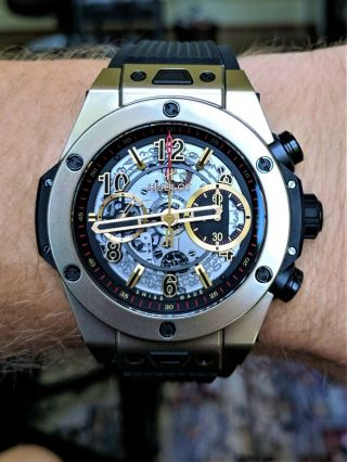 Hublot Big Bang Unico Full Magic 18k Gold Skeleton 411.  MX.  1138.  RX - 5