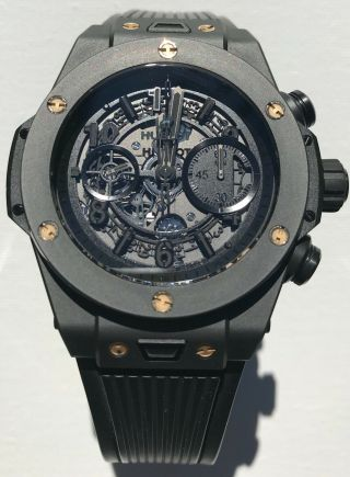 Hublot Big Bang Unico 45mm 411ci1110rx Ceramic/titanium/custom Rose Gold Screws