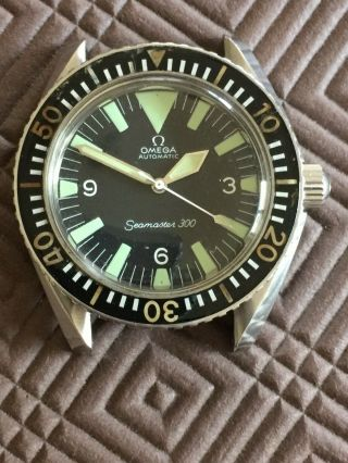 Very Rare Vintage Omega Seamaster 300 Big Triangle Ref.  165.  024
