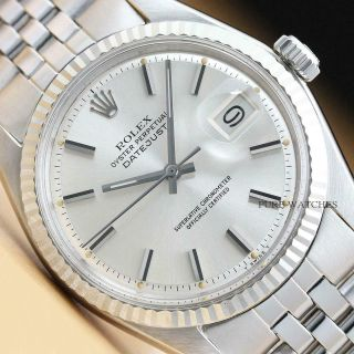 Rolex Mens Datejust 18k White Gold & Stainless Steel Watch,  Band