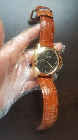 Panerai Luminor 1950 Gmt 3 - Days Auto 44mm Rose Gold