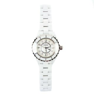 Chanel - J12 Diamond Watch - White Ceramic Silver Quartz