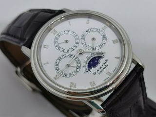 Blancpain Perpetual Calendar Moonphase 34 Mm Automatic Cal 953 - Stainless Steel
