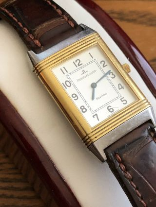 Jaeger - Lecoultre Reverso 18k Gold & Stainless Steel Two Tone Watch