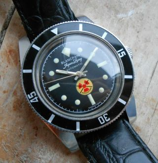 Vintage Blancpain Fifty Fathoms Aqua Lung Noradiations Watch Homage Tribute