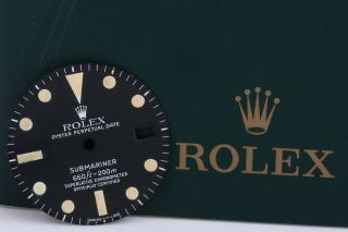 Rolex Submariner 1680 Matte Black Dial With Egg Shell Patina Fcd8640