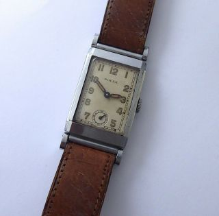 Rolex Rare Art Deco Style Vintage Dress Watch From The 1930s.