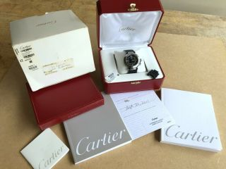 Cartier Pasha Seatimer 2790 Automatic Black 40mm Box Books Papers Links