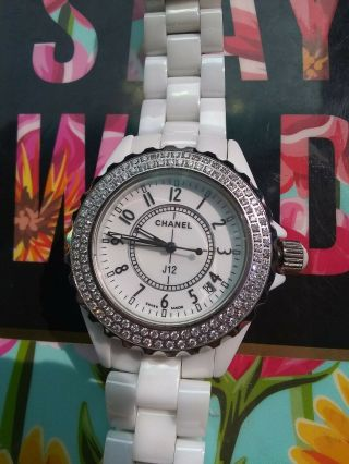 Chanel J12 38mm Ceramic With Factory Diamond Bezel – H0969