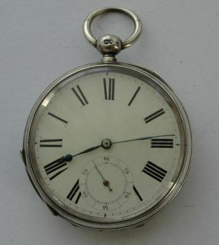 Antique American Lancaster Watch Co.  Usa,  Sterling Silver Pocket Watch C1885