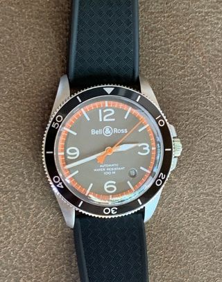 Bell & Ross V2 - 92 Garde Cotes 41mm W/ Box,  Books,  And Card