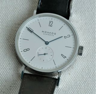 Nomos Tangomat No Date Watch - Box And Book -