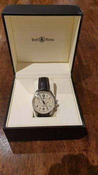 Bell & Ross Vintage Br126a 39mm Chronograph Automatic Beige & Book