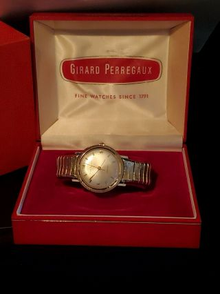 Vintage  Girard Perreagux Gyromatic 14k Gold Mens Automatic Watch