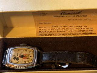 Disney Mickey Mouse Vintage Watch Made In U.  S.  A