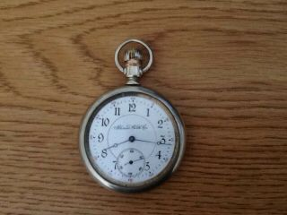 Illinois Watch Co.  Pocket Watch 1902/1903 16 Size Silver Color Not Running