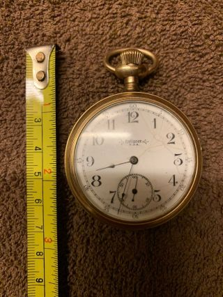 Vintage Reliance Usa Pocketwatch.  Nonworking.  The Winner Guaranteed 20 Years