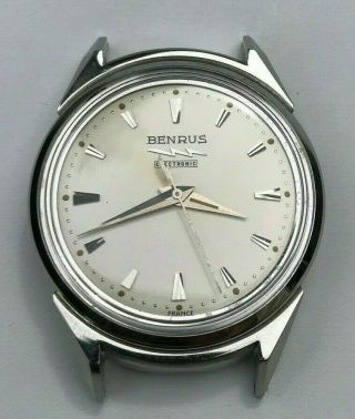 Benrus Electronic/lip R27 Mens Watch,  Stainless Steel Case,  Old Stock