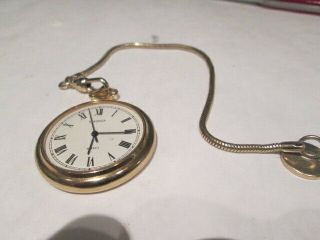 Sekonda Pocket Watch Gold Plate With Chain