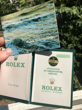 Rolex Submariner Red 1680 Paperwork Rare 1972 1970s Papers Books