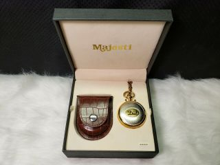 Majesti Dad Pocket Watch,  Gold Tone With Protective Case (battery Not)