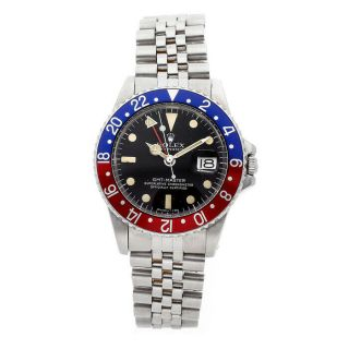 Gmt - Master Pepsi Vintage Steel Automatic Mens Jubilee Bracelet Watch 1675