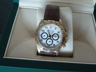 Rolex Daytona 18k Yellow Gold White Dial Chronograph Watch with Zenith Mo 16518 4