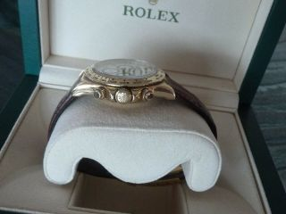 Rolex Daytona 18k Yellow Gold White Dial Chronograph Watch with Zenith Mo 16518 7