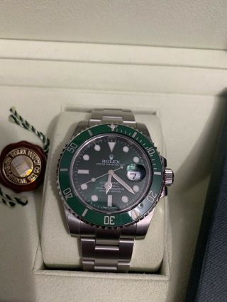Rolex Submariner Hulk 116610LV Ceramic Green Dial 3