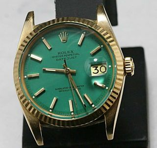 2.  Custom Made After Market Ref 1601 Non Quick Set Automatic Datejust.  Cal 1570